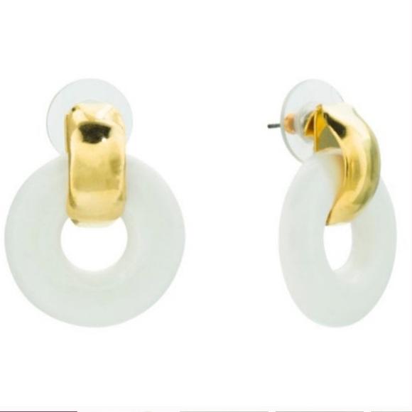 Kenneth Jay Lane Small Door Knocker Earrings NWT